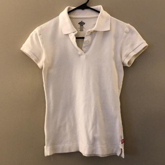 63cf4f24 Dickies Tops | Girl Polo Small White | Poshmark